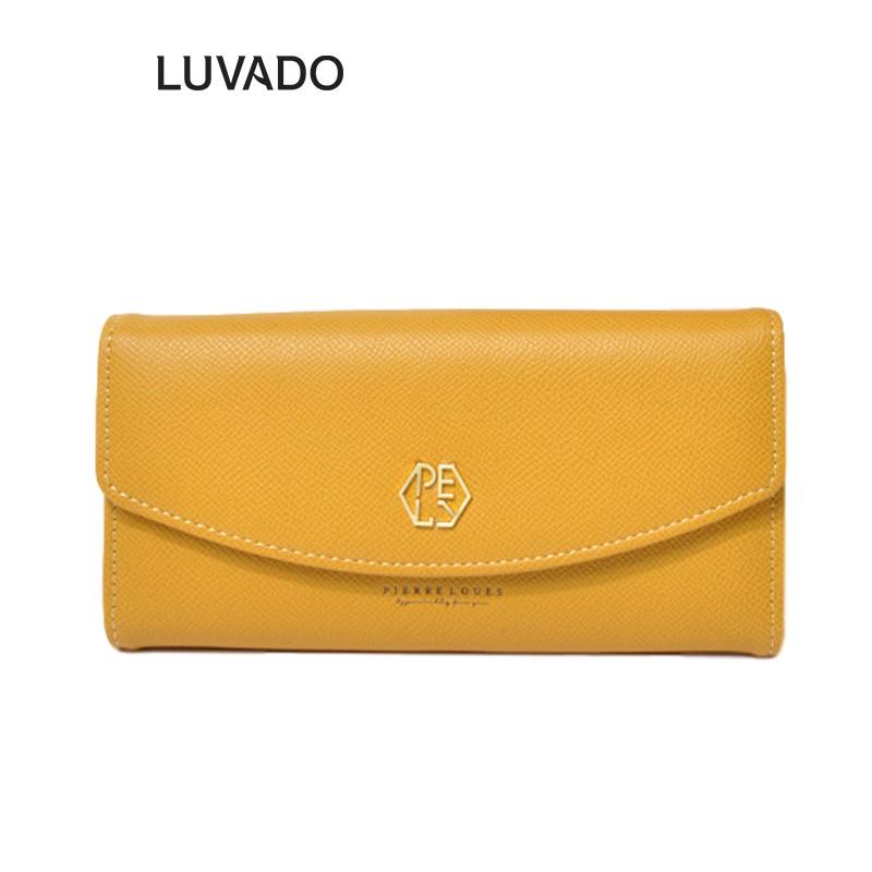 Ví nữ dài đẹp cầm tay thời trang PIERRE LOUES nhiều ngăn cao cấp đựng tiền LUVADO VD368