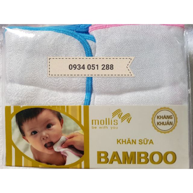 Khăn sữa tay cao cấp 25*25cm cho bé yêu #mollis_bamboo