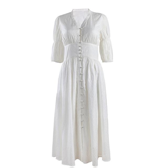 Váy trắng tiểu thư hàng thiết kế