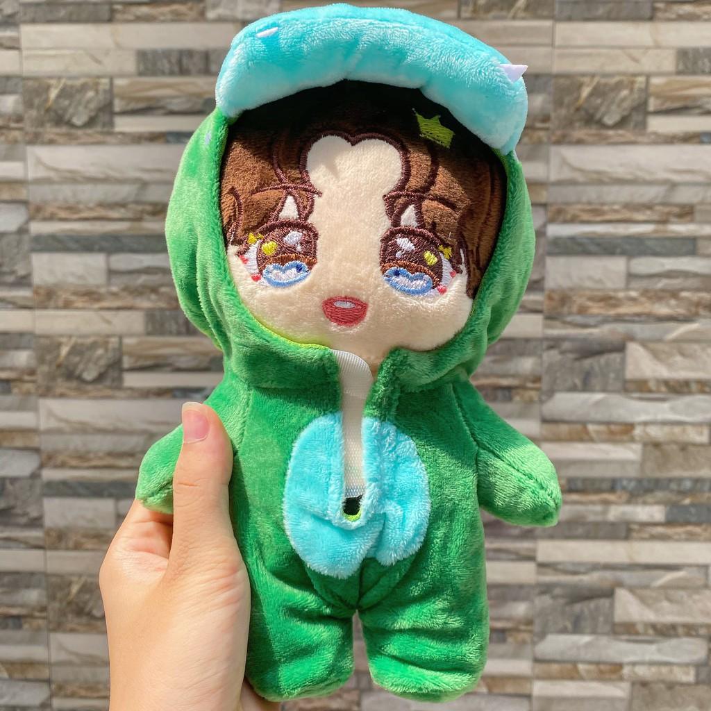 ( OUTFIT ) Outfit doll mẫu khủng long xanh đồ quần áo cho búp bê dễ thương xinh xắn idol Hàn Quốc