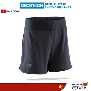 Quần chạy bộ nữ KALENJI run dry nhanh khô - Đen thumbnail