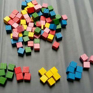 50 khối cube khối gỗ vuông màu