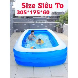 Bể bơi siêu to khổng lồ 3,05m ( bao giá shopee )