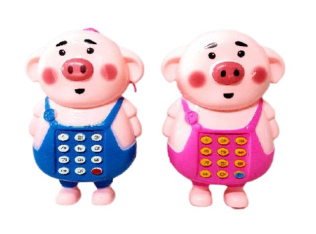 Đồ chơi điện thoại di động heo dễ thương (không kèm