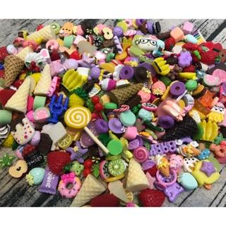 [ rẻ nhất vn ] Set 50 thức ăn đồ chơi – phụ kiện handmade trang trí