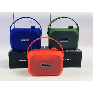Loa Bluetooth BOOMBASS không dây mini - Bass mạnh- kết nối bluetooth, usb, thẻ nhớ, ăngten kết nối đài FM