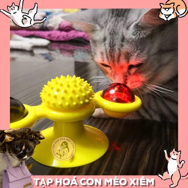[SẮP VỀ] Đồ chơi xoay giải trí cho chó mèo hít chân không có đèn