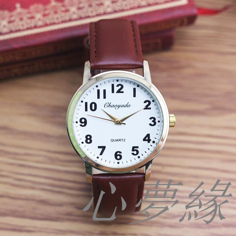 đồng hồ quartz điện tử chống thấm nước với mặt đồng hồ lớn và họa tiết hình trái tim