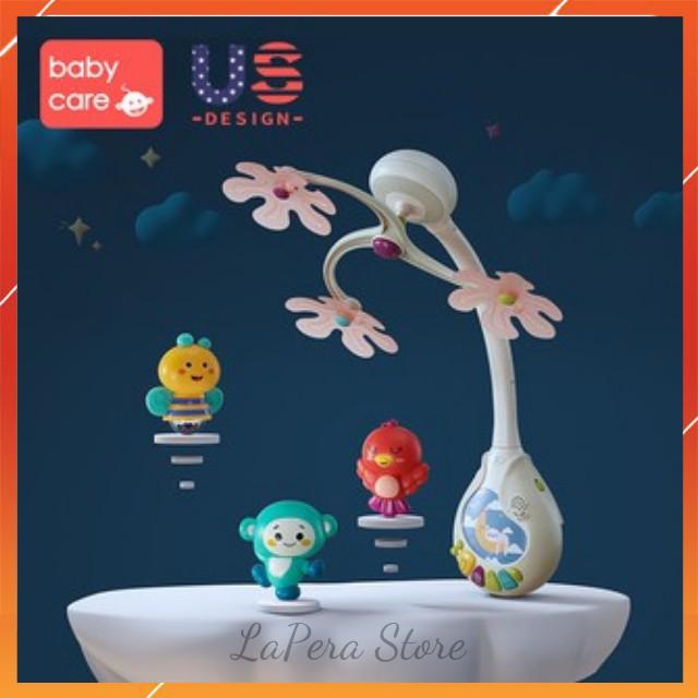 [Hàng Nhập Khẩu] Đồ Chơi Treo Nôi Cũi Xe Đẩy Phát Nhạc Có Đèn Cho Trẻ Sơ Sinh, Đồ Chơi Kích Thích Thị Giác Hiệu BabyCare