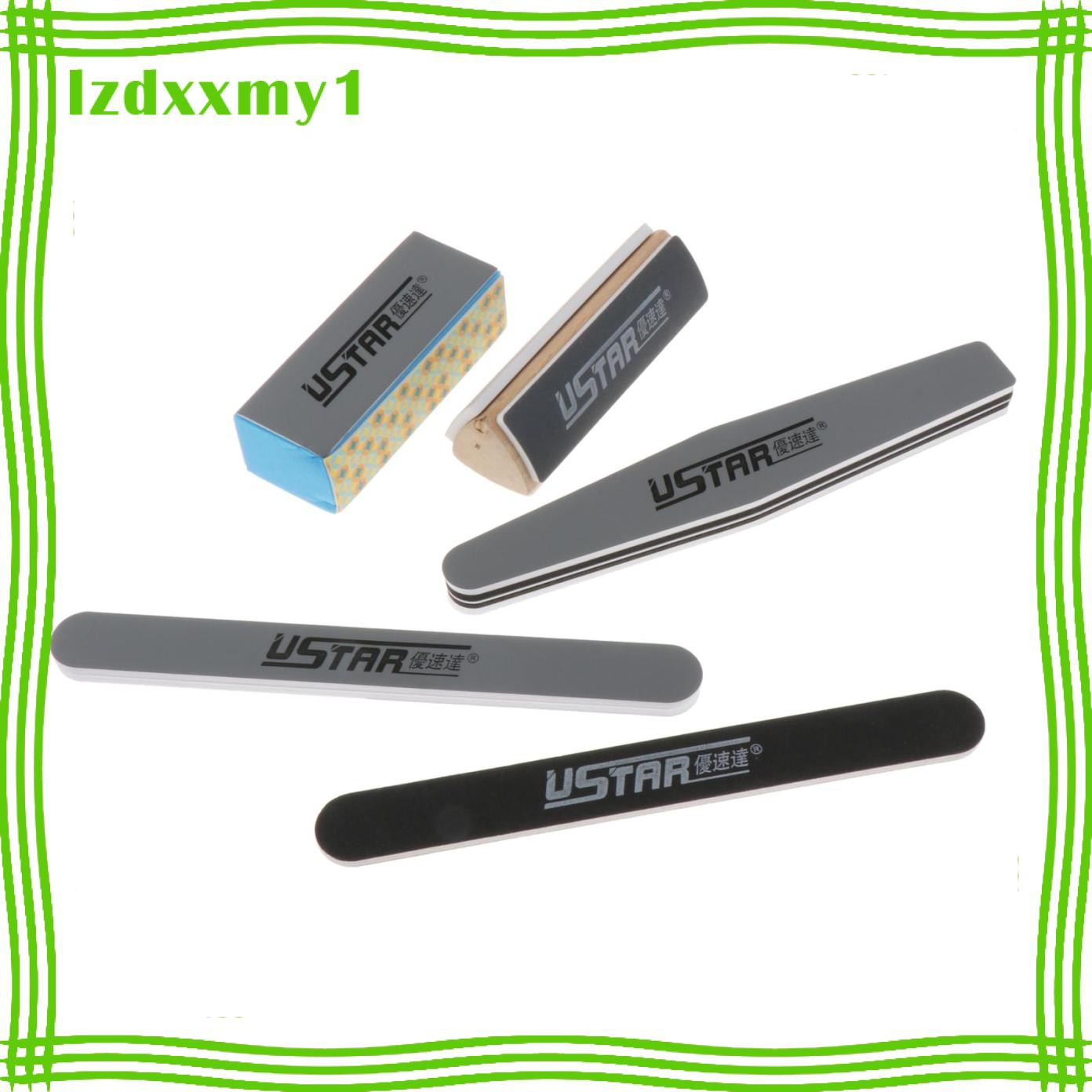 Kiddy Grinding Tools Set Polishing Sticks for Model Nail Art Polishing Tools