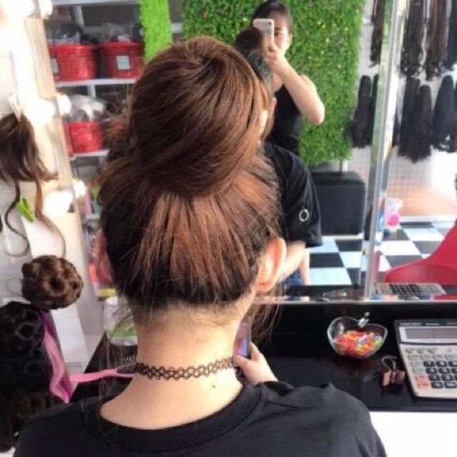 Búi tròn tóc giả ca