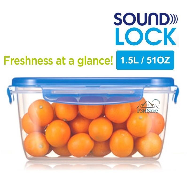 Hộp bảo quản Lock&Lock Sound Lock dung tích 1.5L hình chữ nhật LEP552