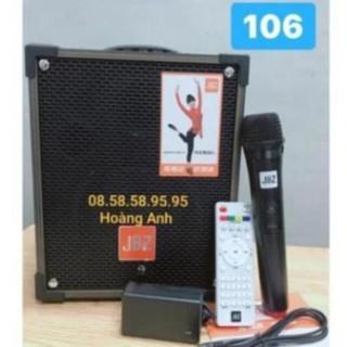 [tặng kẹp điện thoại để bàn]Loa kéo di động JBZ NE-106, loa karaoke 2 tấc, công suất max 100W