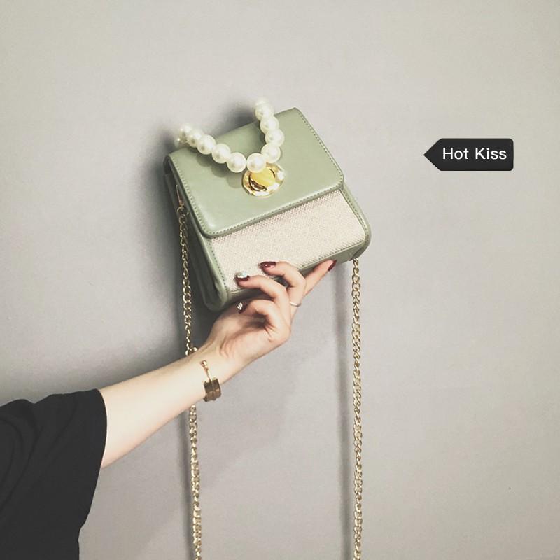Advanced sense bag Western style texture handbag new 2019 fashion retro slung shoulder summer chain handbag