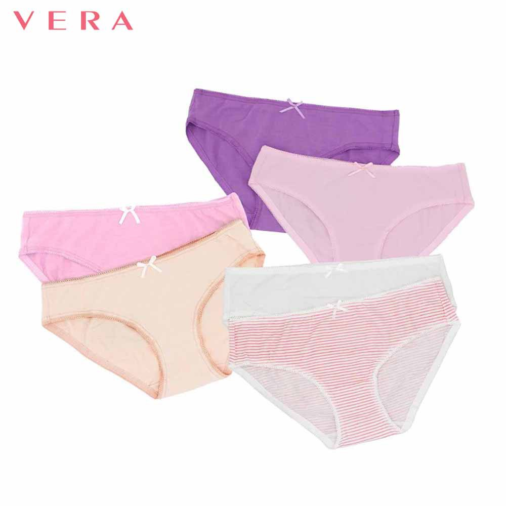 Combo 06 quần lót nữ cotton có họa tiết VERA 8397
