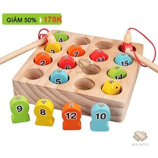 Đồ chơi giáo dục – Bộ đồ chơi CÂU CÁ GỖ tập đếm xuất Nhật