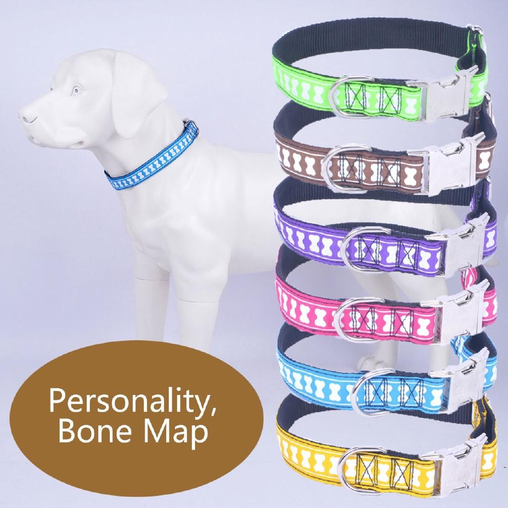 ^SD^ Pet Collar Zinc Alloy Buckle Collar Adjustable Dog Collar Big Dog Chain