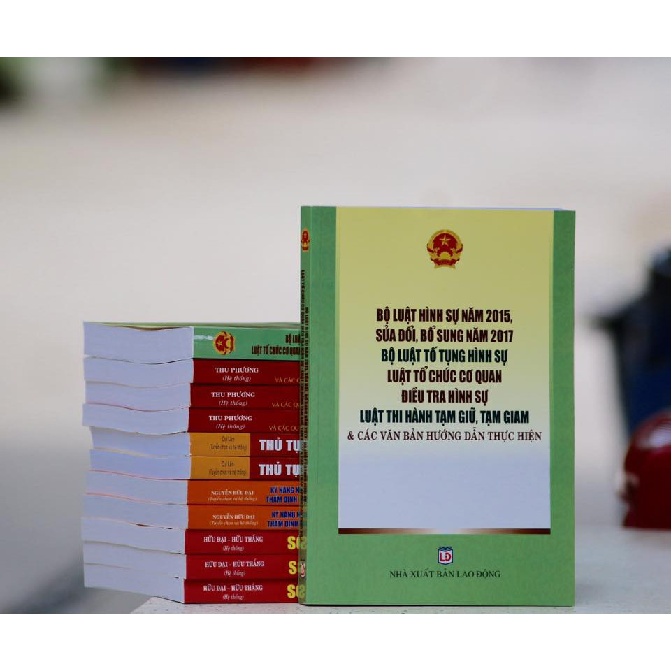 Sách BỘ LUẬT HÌNH SỰ 2015 (SỬA ĐỔI 2017)-BỘ LUẬT TT HS- LUẬT TỔ CHỨC CƠ QUAN ĐIỀU TRA HÌNH SỰ-LUẬT THI HÀNH TG, TGIAM