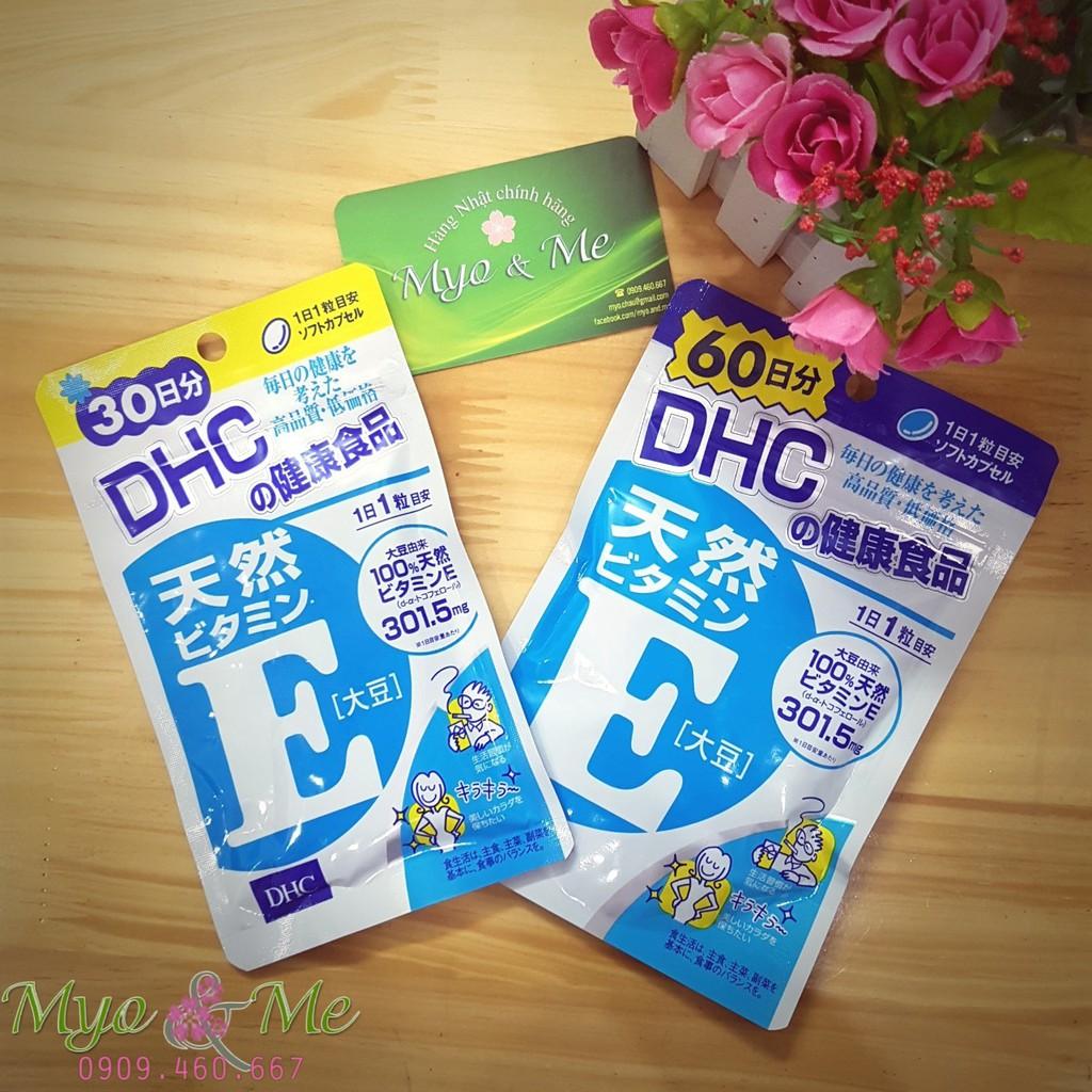 Viên uống Vitamin E DHC gói 30-60 ngày