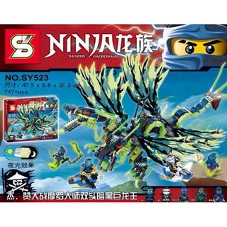 Lego mô hình Rồng Morro 2 đầu 4 cánh bất bại