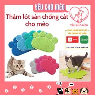 Thảm dậm chân, thảm lót khay vệ sinh tránh văng cát ra ngoài cho mèo , thảm cát mèo thumbnail