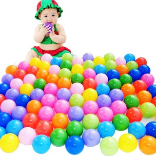 Túi 100 bóng nhựa đồ chơi cho bé [ Siêu rẻ ]
