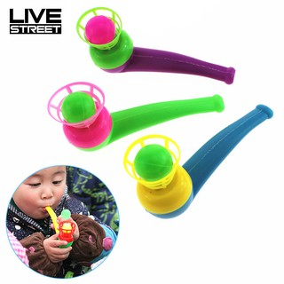 LIVE Colorful Sport Blowing Toy Fillers Pipe Ball Birthday s