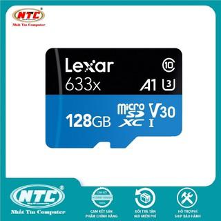 [Mã ELMSBC giảm 8% đơn 300K] Thẻ nhớ MicroSDXC Lexar 128GB 633x A1 V30 U3 4K 95MB/s - Không Box (Xanh)