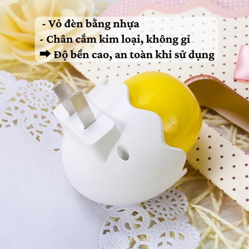 Đèn ngủ SALE Đèn ngủ cảm ứng ánh sáng thông minh tự động sáng khi trời tối hình quả trứng gà con dễ thương giá rẻ