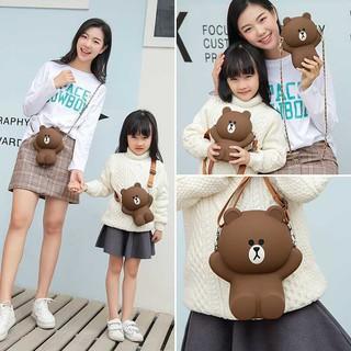 Túi đeo chéo gấu siêu xinh hottrend ( 2 dây )