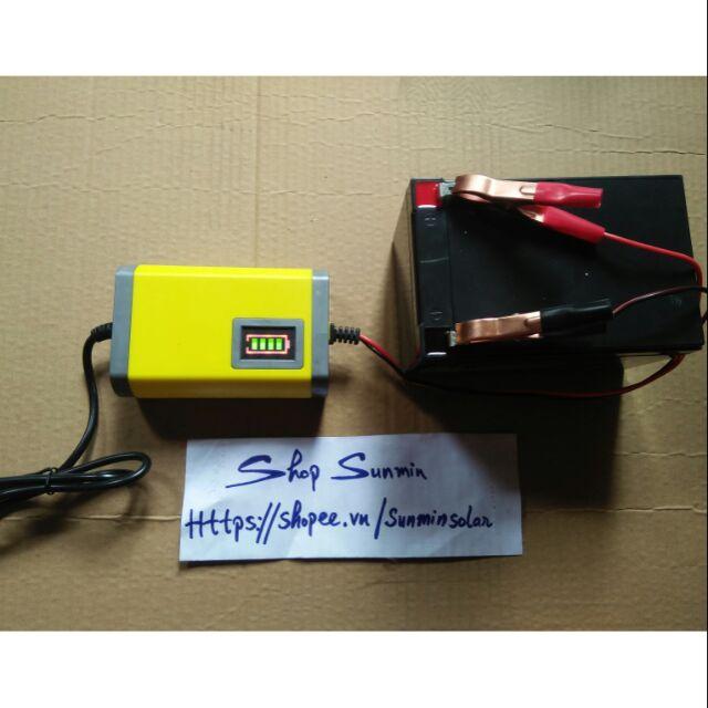 Bộ sạc bình ắc quy tự động 12V 7Ah — 20Ah