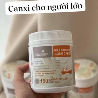 (Tem Chemist) Viên uống Canxi sữa cho người lớn, Canxi Bone Care 150v Bio island thumbnail