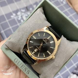 [HOT 2021] Đồng hồ Nam O.M.E.GA, dây da mềm, size 40, thẻ bảo hành 12 tháng- Đồng hồ Omega Nam