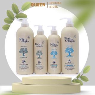 Bộ Dầu Gội Xả Biotin Collagen trắng 500ml-1000ml thumbnail