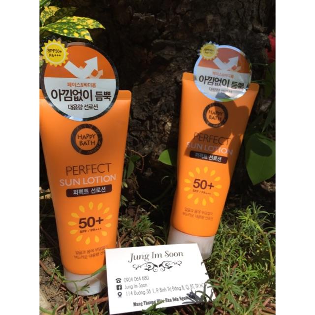 Tinh chất chống nắng HAPPY BATH SUN LOTION SPF50+ PA+++