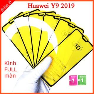 Kính cường lực Huawei Y9 2019 full màn hình, Ảnh thực shop tự chụp, tặng kèm bộ giấy lau kính taiyoshop2 thumbnail
