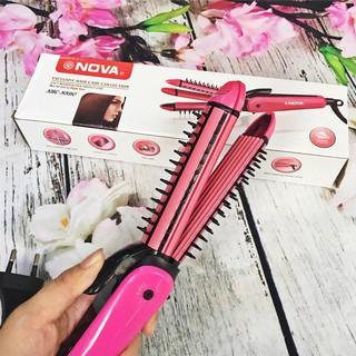 Máy tạo kiểu tóc đa năng 3in1 Nova (Bấm - Duỗi - Uốn) thumbnail