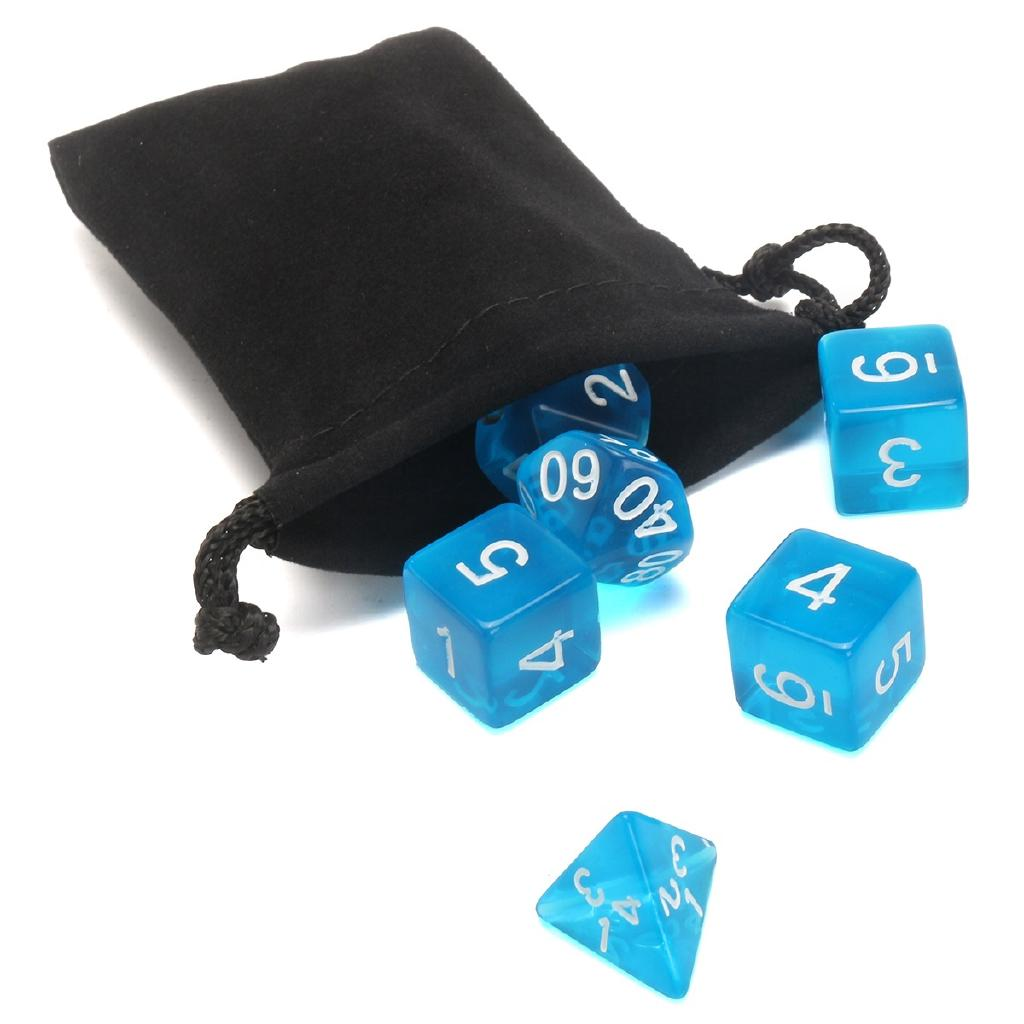 10pcs/set Polyhedral Dice Black Blue Green Dungeons and Dragons DnD RPG MTG Dice