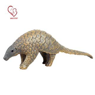 Wild Animal World Simulation Model Pangolin Figurine Children Plastic Toys Early Education