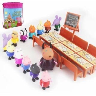 Bộ đồ chơi lớp học Peppa Pig 21 nhân vật