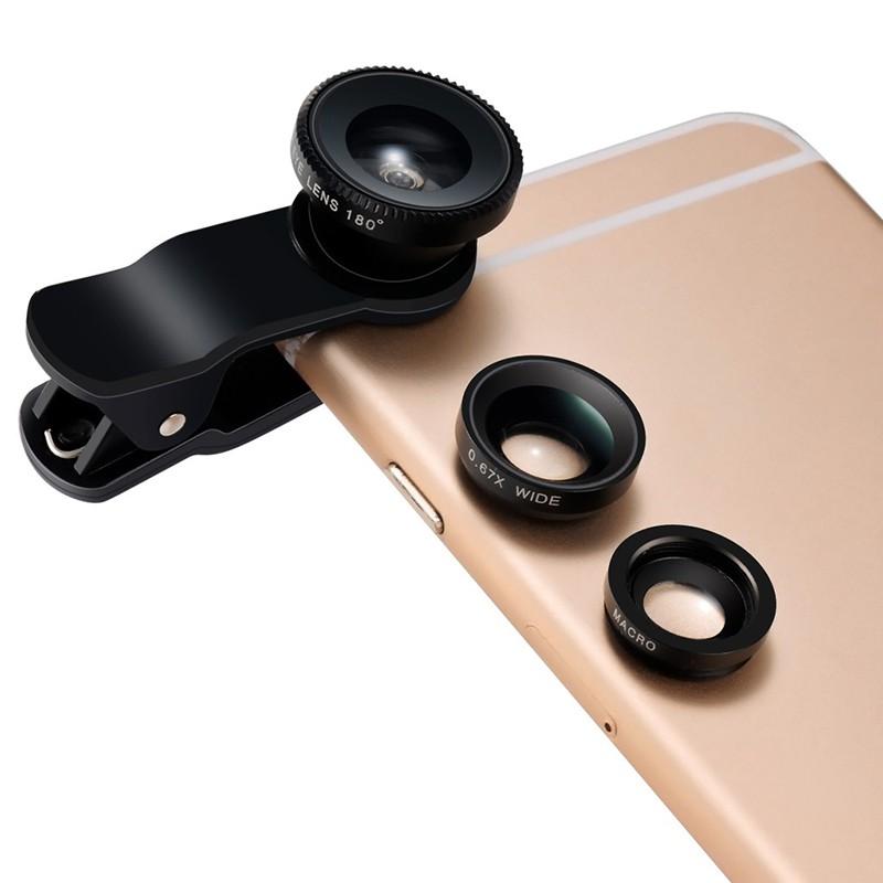 Ống Kính Fish Eye Cho Điện Thoại Iphone 11 Pro Xs Max X Xr Xs 7 8 6 Android Phone