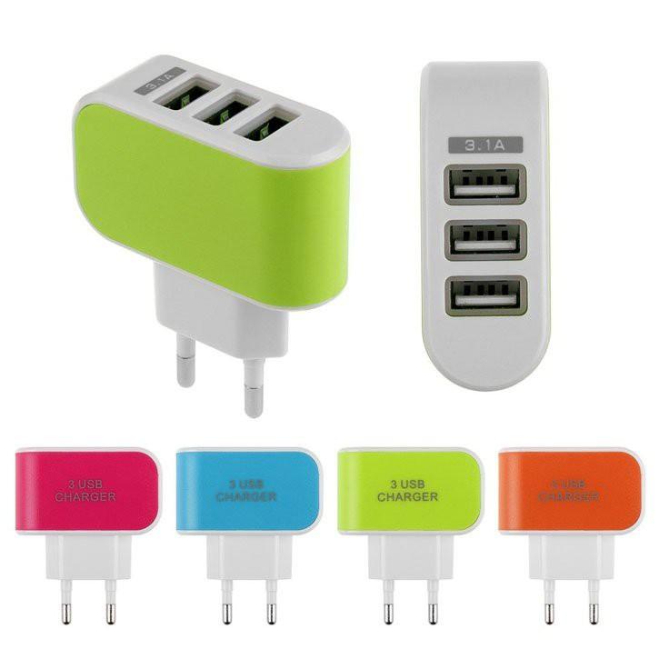 Cốc Sạc 3 Đầu USB Tiện Dụng