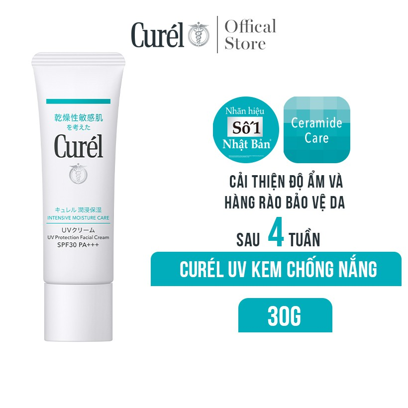 Kem Chống Nắng Curel UV Protection Face Cream SPF 30 PA++ 30g