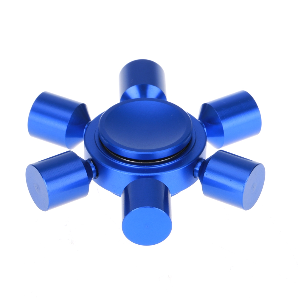 Alloy Rudder Anxiety Autism Stress Reducer Fidget Hand Six Spinner EDC Toy