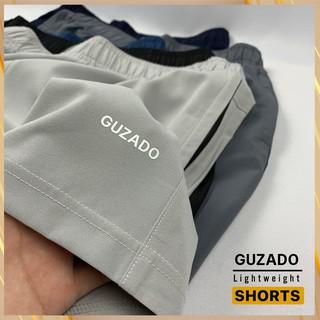 Hình ảnh Quần đùi nam Guzado phong cách thể thao khỏe khoắn, chất gió mềm siêu mịn, co giãn tốt, vận động thoải mái GSR01-7