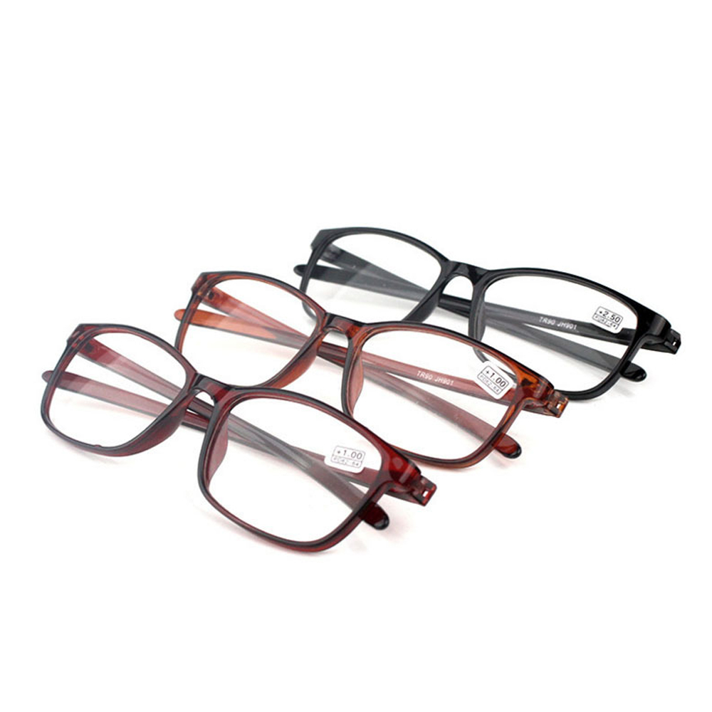 YVETTE Retro Reader Eyewear Fashion Reading Glasses Presbyopic Glasses TR90 Ultralight Flexible Women Men Clear Lens/Multicolor