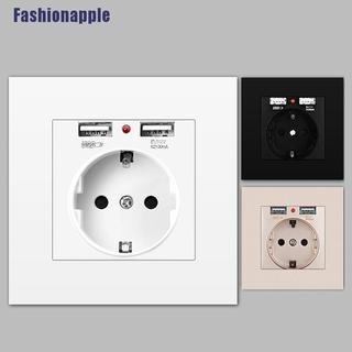 Tengye Dual USB 2400mA Wall Charger Adapter EU Electrical Plug Port Socket Power Outlet Fad