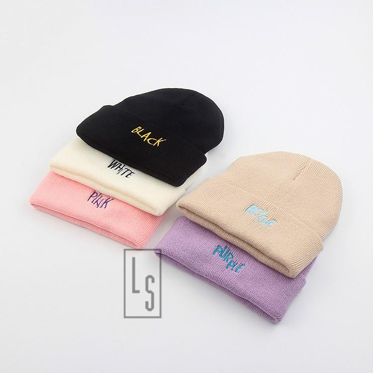 Mũ Nón Len Color Hàn Quốc 5 màu - SẴN HÀNG