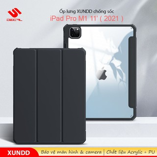 ▪Ốp lưng XUNDD iPad Pro M1 11′ ( 2021 ) Chống trầy, Chống sốc, Mặt lưng trong, Kiểu bao da mới