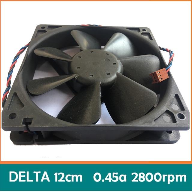 Quạt bi server Delta 12cm 0.45a bóc máy (dual ball bearing - 2 vòng/ổ bi) fan tản nhiệt 12v máy chủ